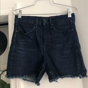 AYR Dark Wash Denim Cutoff Shorts